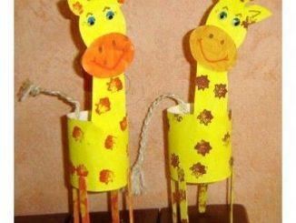Toilet-paper-rolls-giraffe-craft