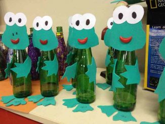 bottle frog craft