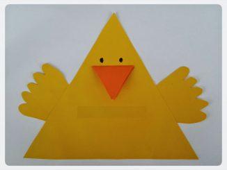 chick craft idea for preschool kids