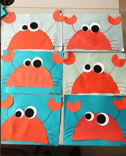 easy crab craft idea