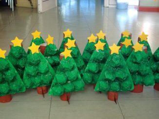 egg carton christmas tree craft