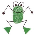 fingerprint frog craft