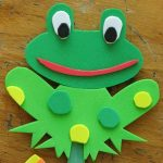 frog puppet craft