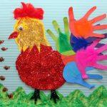 handprint hen bulletin board