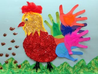 handprint hen bulletin board