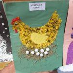 hen bulletin board idea