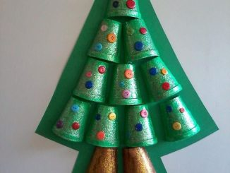 paper-cup-christmas-tree-craft-idea
