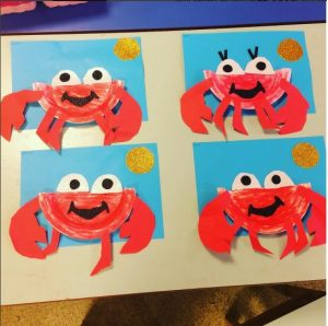 paper cup crab craft for kids crab craft idea 7859