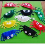 paper plate crab craft idea for preschoolers