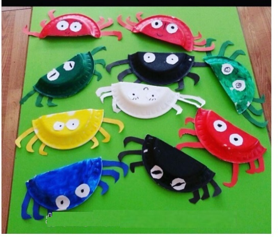 paper plate crab craft idea for preschoolers (1)