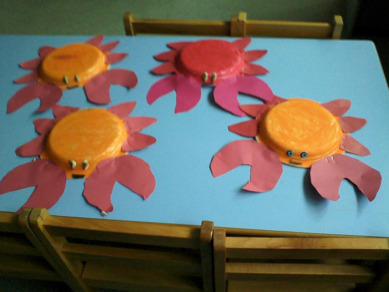 paper plate crab craft idea for preschoolers