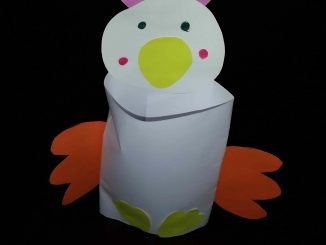 paper roll chicken craft