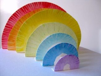 3d-Paper-plate-rainbow-craft