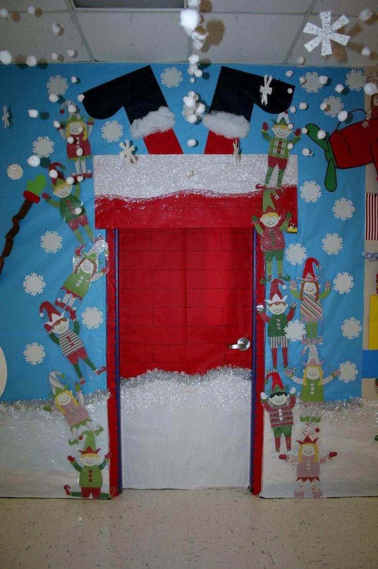 Christmas Door Decoration Idea For Kindergarten