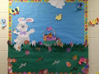 Easter-bulletin-board-idea