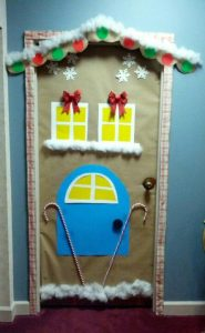Christmas Door Decoration Idea For Kindergarten