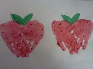 Handprint-strawberries-craft