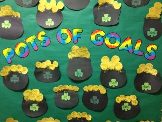 March-Pots-of-Goals-bulletin-board-idea