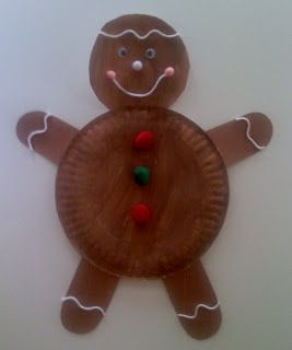 Paper-Plate-Gingerbread-Man-craft