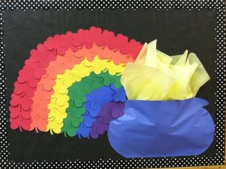 Shamrock-Rainbow-Bulletin-Board-Idea-for-kids
