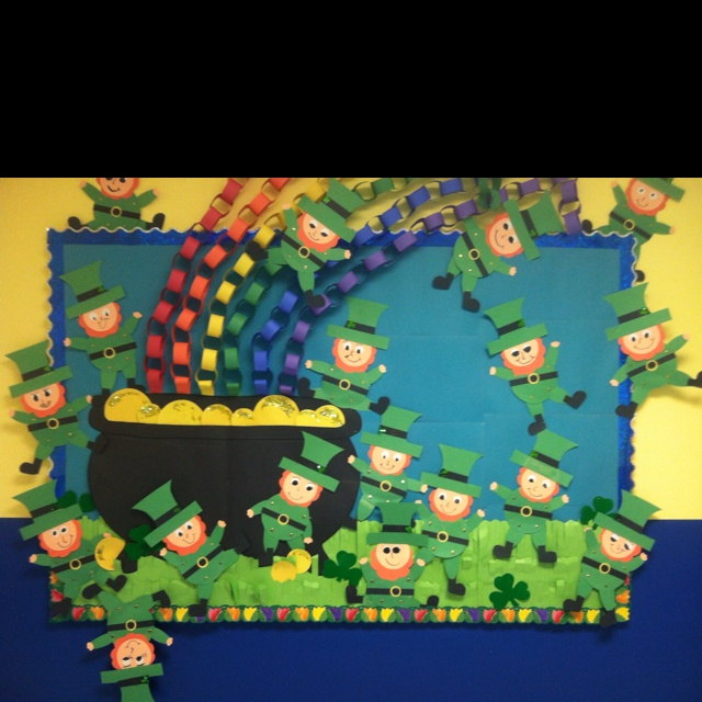 St.-Patricks-Day-bulletin-board-idea-for-kids