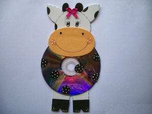 cd cow craft idea for kid
