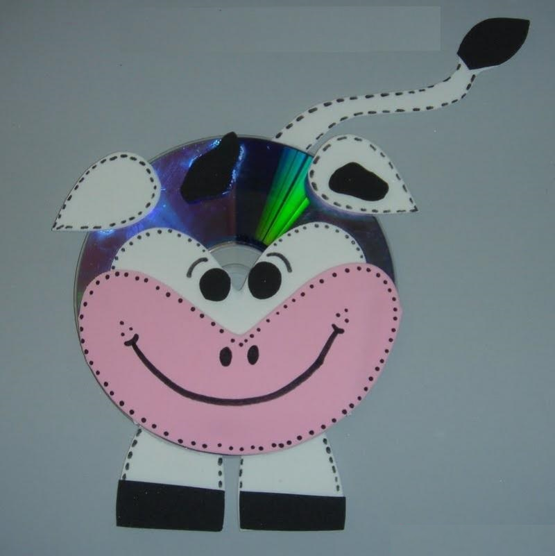 cd cow craft ideas for kids