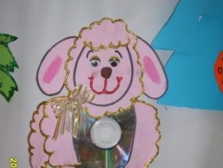 cd sheep craft idea for kids
