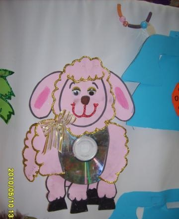 cd sheep craft idea for kids