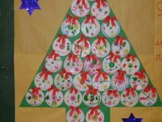 christmas tree bulletin board idea