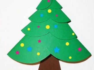 circle-christmas-tree-craft-idea