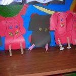clothes pin elephant craft