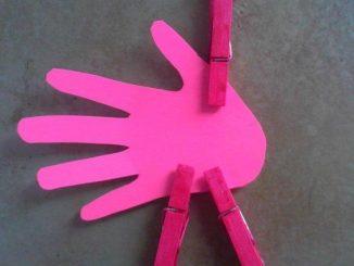 clothes pin flamingo craft