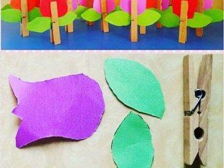 clothes pin tulip craft