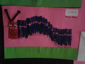clothespin stamp caterpillar craft