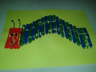 clothespin stamp caterpillar craft idea