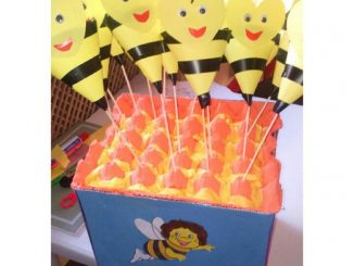 cone-shaped-bee-craft-idea