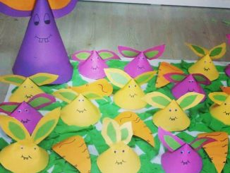 cone shaped bunny craft