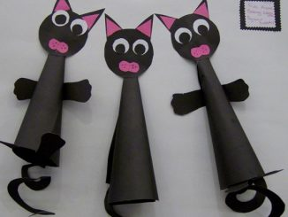 cone shaped cat craft idea