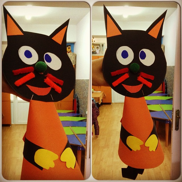 cone-shaped-cat-craft-idea-for-kids