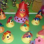 cone shaped chicken bulletin board idea