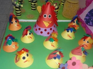 cone shaped chicken bulletin board idea