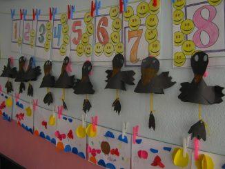 cone shaped crow craft idea