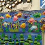 cone-shaped-fish-bulletin-board-idea