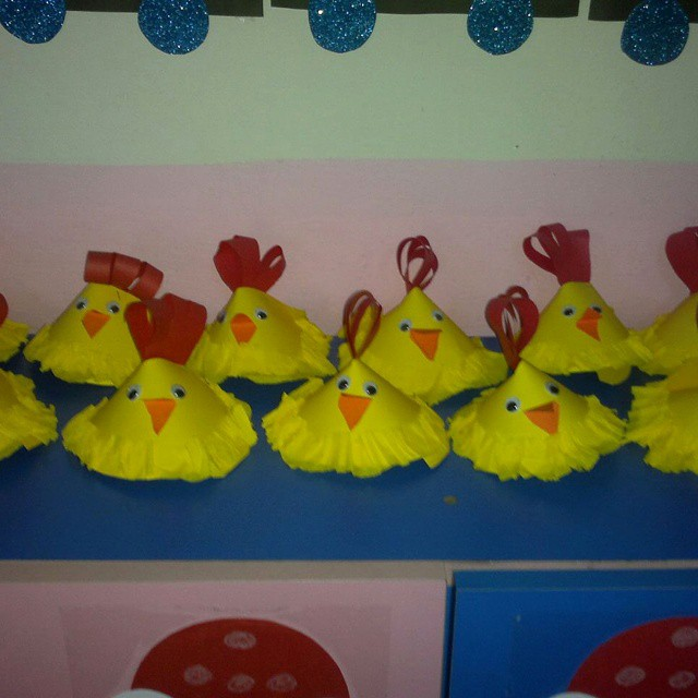 cone-shaped-hen-craft-idea - Preschoolplanet