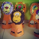 cone-shaped-lion-craft-idea