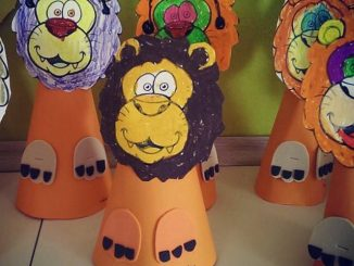 cone-shaped-lion-craft-idea