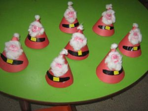 cone-shaped-santa-claus-craft-idea-for-kids