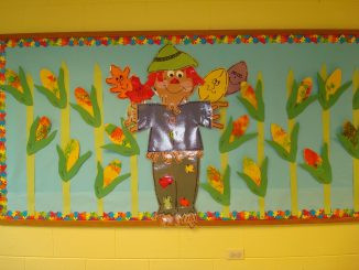 corn bulletin board idea