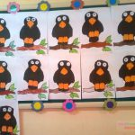 crow craft idea for kids